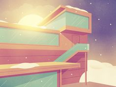 Dribbble - This Must Be The Place by Justin Mezzell