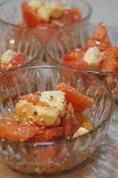 クリームチーズとトマトのサラダ