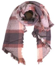 Ladies' soft Pink and Grey scarf, in timeless checkered tartan, by Style Slice, features a lightly fringed edge. Elegant winter shawl that can be personalised with a charm or a monogram. Suitable as a gift for anniversary, birthday or any day in which to tell the woman in your life, be it a Mum, Wife, Sister or Girlfriend, that she is special. #scarf #shawl #wrap #scarves #fashion #vintage #handmade #acessories #etsy #gift #outlander #headwrap #ootd #plaid #tartan #pashmina #fringe