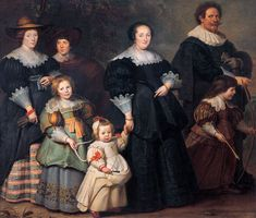 Cornelis de Vos Dutch/Flemish (c. Self-portrait of the artist with his wife Suzanne Cock and their children (c. oil on canvas х cm The State Hermitage Museum, St Petersburg 17th Century Clothing, 17th Century Fashion, Catherine The Great, Dutch Golden Age, Hermitage Museum, Art Costume, Costumes, Painting Studio, Dutch Painters
