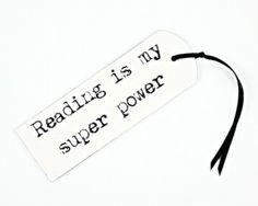 kartki okolicznościowe, zakładki do książek-zakładka 'Reading is my super power!' miniart