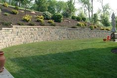 Really like the smooth capstone on tumbled wall stone.  (Image 14)