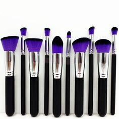 10pcs Pro Makeup Brushes