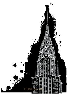Alluring Chrysler Building Line Drawing on Architecture Decor with Extraordinary Chrysler Building Line Drawing