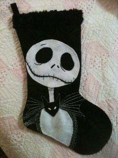 Nightmare Before Christmas Jack Skellington Christmas Stocking.  Etsy Wednesday: Spooky Finds for Tim Burton Junkies