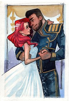 Jane Shepard & James Vega finally get hitched! ^_^ These guys are from my Jane & James oneshots! (Though I'm still writing their proposal oneshot, let alone their wedding!) Watercolour art by Naeviss...