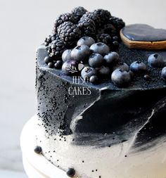 Cake by Juso Cakes, black and white cake, Confectionery with soul and humor, Russia * website: https://www.instagram.com/juso.cakes/ @jusocakes