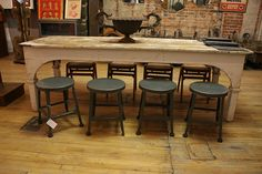 Harvest Table and Stools