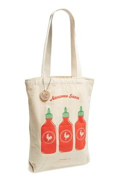 Seltzer 'Awesome Sauce' Tote Bag (Juniors) available at #Nordstrom