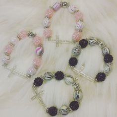 Check out this item in my Etsy shop https://www.etsy.com/listing/278227350/beautiful-cross-beaded-bracelets