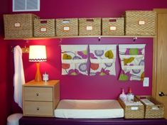 over changing table? daycare-playroom-ideas