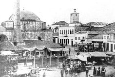 The Mosque in Market Square Photo Story, Mosque, Old Photos, Paris Skyline, Taj Mahal, Greece, Ottoman, Travel, Painting