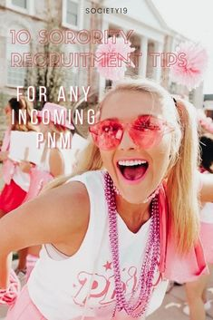 10 Sorority Recruitment Tips For Any Incoming PNM College Trends, College Hacks, College Life, Sorority Recruitment Tips, Sorority And Fraternity, Pros And Cons List, Rho Gamma, What House, Lifelong Friends