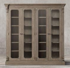 St. James Glass 4-Door Cabinet
