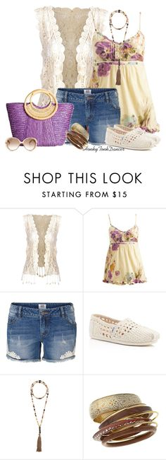 """Toms Crochet Flats"" by honkytonkdancer ❤ liked on Polyvore featuring Ally Fashion, Wet Seal, Vero Moda, TOMS, Hipchik, Miss Selfridge, Gucci, toms and CasualChic"