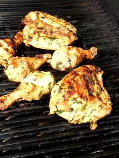 Let the Grilling Begin! - Proud Italian Cook  -Herb and mustard rub for chicken  -Grilled tomatoes with garlic, herbs, and Parmesan cheese  -Grilled eggplant  -Ice cream drenched in Amaretto     *This would be a great camping menu!
