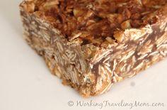 Peanut Butter Energy Bars (no bake = Noah can make them!)