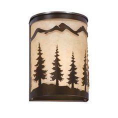 Cascadia Lighting Yosemite 8-in W 1-Light Burnished Bronze Pocket Hardwired Wall Sconce