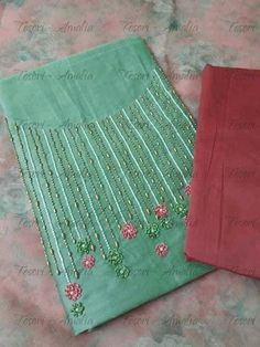 WhatsApp 9035330901 for hand embroidery materials customization. (No COD, No wholesale, shipping across India) Hand Embroidery Design Patterns, Hand Embroidery Dress, Embroidery On Kurtis, Kurti Embroidery Design, Embroidery Materials, Hand Embroidery Videos, Embroidery Flowers Pattern, Embroidery Works, Simple Embroidery
