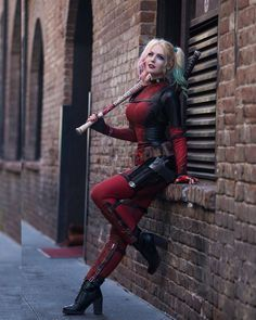 Harley Quinn/Deadpool Crossover Cosplay by Maid Of Might Cosplay Deadpool Cosplay, Dc Cosplay, Lady Deadpool, Superhero Cosplay, Marvel Cosplay, Best Cosplay, Cosplay Girls, Cosplay Costumes, Female Cosplay
