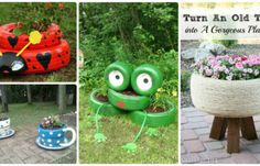 DIY Tire Planter Pot Ideas Instructions