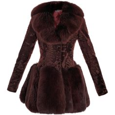 Alexander McQueen Astrakhan And Fox Fur Coat ($14,110) ❤ liked on Polyvore featuring outerwear, coats, jackets, fur, coats & jackets, red fox fur coat, red peplum coat, red coat, alexander mcqueen coat and red double breasted coat