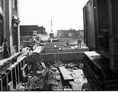 Battery Street tunnel under construction, 1953