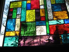 stained glass Water Color Stained Glass panel by stanfordglassshop, $125.00