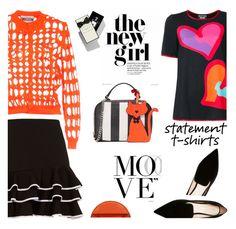 """Say What: Statement T-Shirts"" by slavicabojanovic ❤ liked on Polyvore featuring Milly, Jonathan Simkhai, Nicholas Kirkwood, Moschino, Jo Malone, Mulberry, Boutique Moschino and statementtshirt"