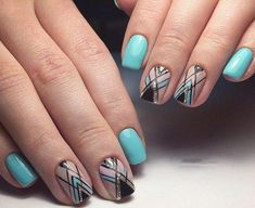 50 Geometric nail art designs for 2019 Geometric Nail Art designs are most popular nail designs aamong nail fashion because of the actuality that these Minimalist Nails, Popular Nail Designs, Nail Art Designs, Fancy Nails, Pretty Nails, Art Deco Nails, Nail Drawing, Mandala Nails, Geometric Nail Art