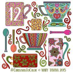 © Mary Tanana 2015 Christmas to Color-Mugs