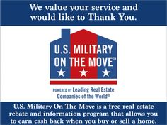 CASH BACK for service members buying and selling homes