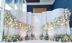 Wedding Backdrop Design, Wedding Hall Decorations, Wedding Stage Design, Wedding Reception Backdrop, Floral Backdrop, Backdrop Decorations, Wedding Mandap, Wedding Receptions, Wedding Photo Walls
