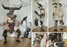 Barbarian Progress And finished!!! Ok the axe is still missing, and I will definitely make it, but not for the Role Play Convention this weekend. The time is not my friend. Nevertheless I am very very very satisfied with the result, and I think tomorrow it will look so awesome with the dirt an the blood on his body. — with Ralf Zimmermann.