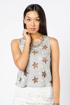 SEE THROUGH STAR TANK $12.99