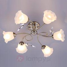Elegancka kwiatowa lampa sufitowa Aurelia bezpieczne & wygodne zakupy w sklepie internetowym Lampy.pl.
