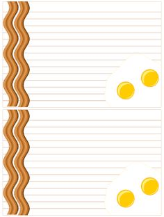 Don't Eat the Paste: Eggs and Bacon Recipe Cards