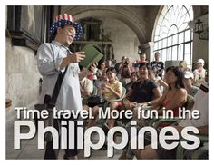 Just having fun with the DOT's new campaign, which I believe is brilliant. Philippines Tourism, Smiling People, Tourism Department, Visayas, Mindanao, Time Travel, More Fun, Slogan, Author