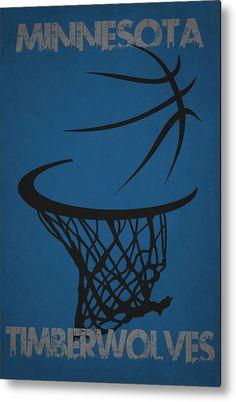Timberwolves Metal Print featuring the photograph Minnesota Timberwolves Hoop by Joe Hamilton
