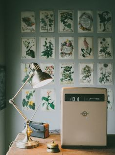 Angle poise lamp and vintage cash till | Anna Potter, founder of Swallows and Damsons