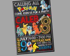 Invitaciones de Pokemon pizarra Pokemon por invitationsbyKATRINA