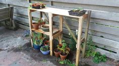 Etagere, can double as a BBQ buffet table