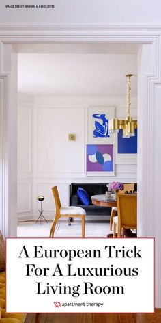 This do-able European trick is the secret to a wow-worthy living room. #livingroomdecor #frenchdecor #livingroomideas #livingrooms #livingroomtrends #frenchdecor #europeandecor #remodelingideas