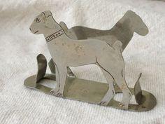 1920's Dog Matchbox Holder Matchsafe . Perfect Business Card Holder