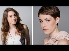 Short & Sweet - Emma Watson inspired crop haircut - Tutorial Movie Trailer - YouTube