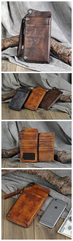 LEATHER WALLET, HANDMADE PURSE,GENUINE LEATHER WALLET