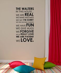 Look what I found on #zulily! 'In This House' Family Rules Personalized Decal #zulilyfinds