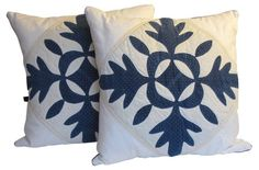 Americana Quilt Pillows, Pair