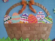Easter basket for bulletin board