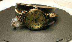 Items similar to Vintage Watch Bracelet Black on Etsy Real Flowers, Vintage Fashion, Vintage Style, Vintage Watches, Watch Bands, Bracelet Watch, Etsy, Bracelets, Amber